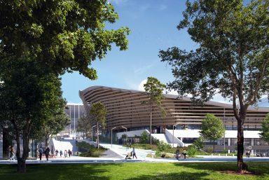 Le Centre Aquatique Olympique se dévoile