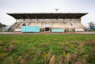 Parc sportif et scolaire du Bourget : le chantier en février