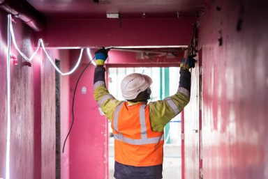 Parc sportif et scolaire du Bourget : le chantier en mars