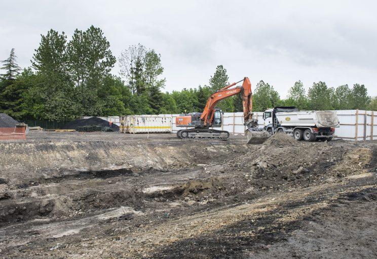Le chantier en juin à Dugny et au Bourget