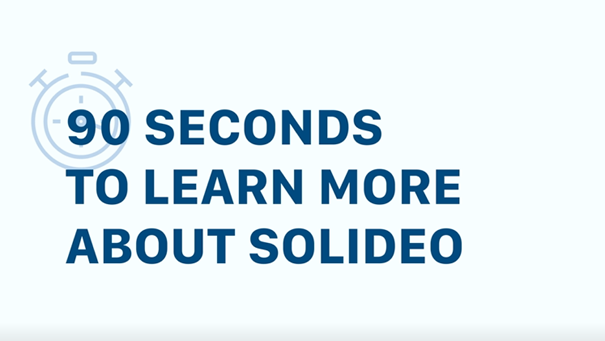 Video: 90 seconds to learn more about SOLIDEO