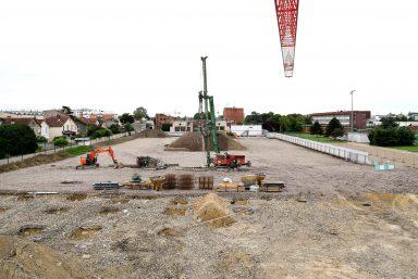 Le chantier en septembre à Dugny et au Bourget